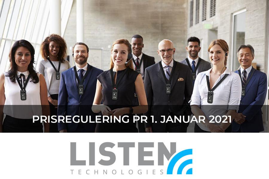 Prisændring på Listen Technologies produkter