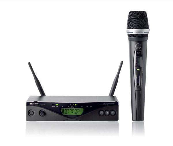 Billede af AKG WMS470 | håndholdt system med C5, bånd D | 863 - 865 MHz
